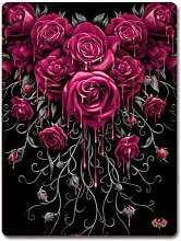 Spiral Blood Rose Fleecedecke Fleece-Decke schwarz