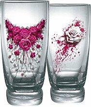 Spiral Blood Rose Trink-Glas-Set Standard