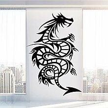 Spiral Dragon Wandaufkleber Selbstklebendes Vinyl
