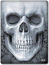 Spiral Solemn Skull Fleecedecke Fleece-Decke