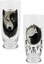 Spiral Wolf Chi Glas-Set klar