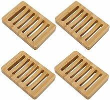 Badezimmer Holz Seifenschale Seifenhalter Haus Hand Handwerk Natur Holz Geschirrhalter f/ür Seifenschwamm W/äscher 5 St/ücke Holzkohle