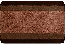 Spirella 10.14456  Badteppich 60 x 90 cm, Balance Brown