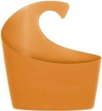 Spirella 1018183 Sydney Orange Korb, m Badaccessoires, Polypropylen, 25 x 22.5 x 8.5 cm