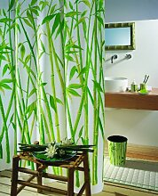 Spirella Bambus Green 180X200 DUSCHVORHANG Textil