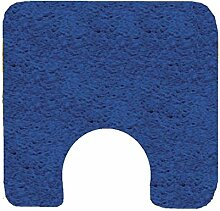 Spirella California Electric Blue Blau Badteppich Badematte Vorleger mit Ausschnitt 55x55cm.