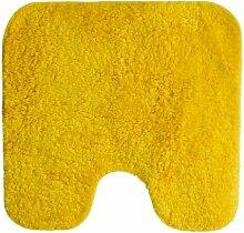 Spirella California Yellow Gelb Badteppich Badematte Vorleger mit Ausschnitt 55x55cm.