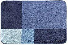 Spirella Prisco Blue Blau Badteppich Badematte 70x120cm. WC-Vorleger
