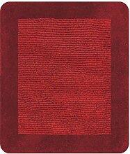 Spirella Simply Dark Red Dunkel Rot Badteppich Badematte Vorleger 55x65cm.