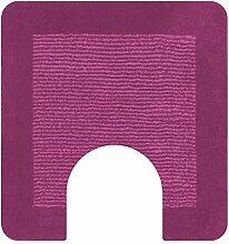 Spirella Simply Pink Rosa Badteppich Badematte Vorleger mit Ausschnitt 55x55cm.