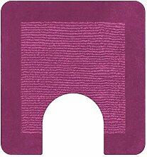 Spirella Simply Pink (Rosa) Badteppich Badematte Vorleger mit Auschnitt 55x55cm.
