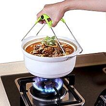Spirgo Kochplatten-Greifzange aus Edelstahl für