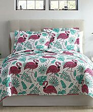 SPIRIT LINEN HOME Bettwäsche-Set Flamingo, für
