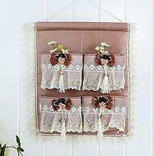 Spitze hängende Tasche Aufbewahrungstasche Schlafsaal an der Wand geschnitten Beutel N