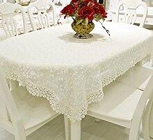 Spitze Runde tischdecke,Tischdecke für esszimmer Kunststoff tischdecke Teetisch Tv-schrank Sofa-A 140x200cm(55x79inch)