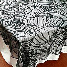 Spitze Tischdecke, Vintage Halloween Party Gothic Spinne schwarz Spitze Tisch Tuch Cover Party Dekoration 122cm * 244cm