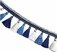 Spitze Vorhang Kante Spitze Vorhang Tischdecke Zubehör Perlen Quaste [B]
