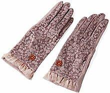 Spitze weibliche dünne Handschuhe elegante Eis-Hülsen Sommer-Sonnenschutz-Handschuhe weibliche Sommer-kurze Handschuhe ( Farbe : 4 )