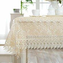 Spitzen Sie-stoff-tischdecke/Glas Garn Stickerei Blume Tischtuch/Korean Garden Tea Tisch Tuch-C 140x190cm(55x75inch)