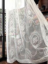 Spitzen stickerei Vorhang,weißer