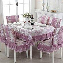 Spitzen Tischdecke Tischdecke,Tisch Garten Tischdecke,Polstermöbel Kit,Bedeckt Mit Servietten Tischdecke Tischdecken-B 150*200cm(59x79inch)
