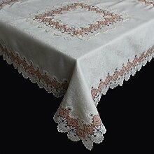 Spitzen Tischdecke Tischläufer Tischband Häkeldecke MITTELDECKE Farbrand 85x85cm (Terrakotta)