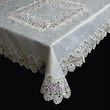 Spitzen Tischdecke Tischläufer Tischband Häkeldecke MITTELDECKE Farbrand 85x85cm (Eisrose)