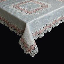 Spitzen Tischdecke Tischläufer Tischband Häkeldecke MITTELDECKE Farbrand 85x85cm (Rosa)