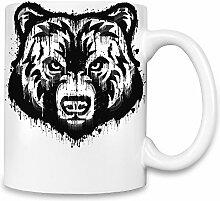 Splash Bear Kaffee Becher