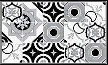 Splash Montréal Teppich, Vinyl, schwarz/weiß,