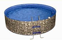 Splash Stone Komplettset 4,60m x 0,90m inkl. Kartuschenfilteranlage/Leiter