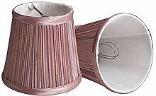 Splink 2 Pcs Lampenschirm E12 Stain Stoff Stehlampe Tischlampenschirm Vintage Stil Rosero