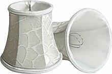 Splink 2pcs Lampenschirm Clip-On E12/E14 Stain Stoff Stehlampe Wandlampe Tischlampenschirm Vintage Kaiserhof Stil 80*120*110mm