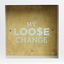Splosh My Loose Change Box Gift Square Glass Front