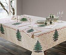 Spode Weihnachtsbaum-Tischdecke aus Stoff 60x104