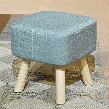 Sponge Hocker / Hocker / Massivholz Hocker / Hocker, Multi-Color optional, stilvoll und langlebig ( Farbe : Blau )