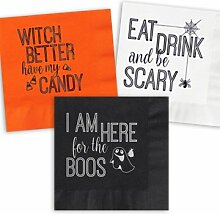 Spooktacular Halloween Cocktail-Servietten, Set