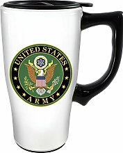 Spoontiques 12472 Army Ceramic Travel Mug, 18