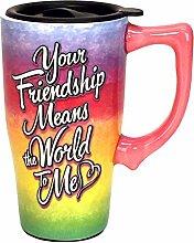 Spoontiques 12759 Friendship Travel Mug, Multi