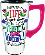 Spoontiques 12790 Life Doesn't Perfect Ceramic