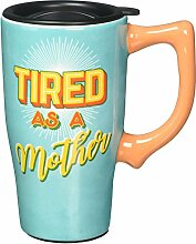 Spoontiques 12807 Tired As A Mother Ceramic Travel
