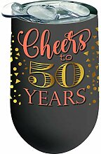 Spoontiques 16979 50 Years Stainless Wine Tumbler,
