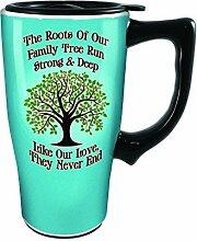 Spoontiques Family Tree Travel Mug, Blue