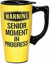 Spoontiques Senior Moment Travel Mug, Yellow