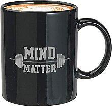 Sport Gym Kaffeebecher 11oz Schwarz - mind matter