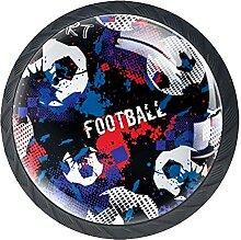 Sportschrank mit Fußball-Muster, stabile Knöpfe,