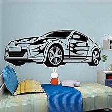 Sportwagen Wandaufkleber DIY Tapete für