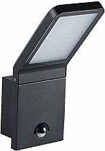 Spot LED BARCELONA IP44 Außenlampe aus hochwertigem Aluminium / 9W, 4000K - neutralweiß, schwarz (mit Bewegungsmelder)