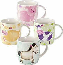 SPOTTED DOG GIFT COMPANY Tassen Set 4 Kaffeebecher