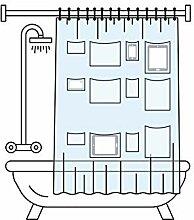 SPRALLA Smart Duschvorhang mit Taschen für